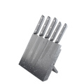 5pcs Black Coating Knife Set with Block