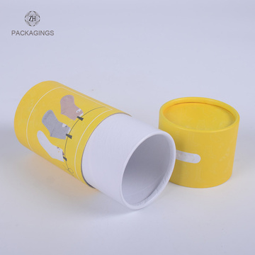 Custom eco paper gift tube packaging