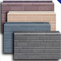 Faux tile aluminium insulated exterior wall panels