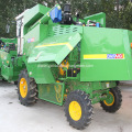 self-propelled wheat combine harvesting