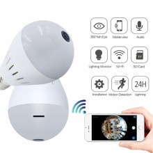 Mini Hidden Wifi Light Bulb CCTV Camera