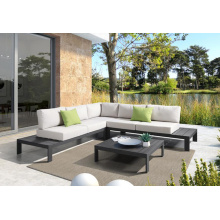 Reliable Supplier for Outdoor Sectional Sofa Aluminum Modern Corner Sofa Set supply to France Factories
