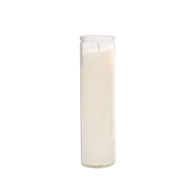 7 Day Candles Clear Glass