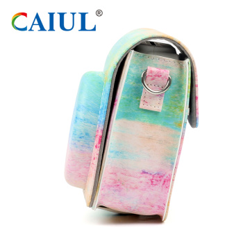 Watercolor Instax Camera Bag Protective PU Case