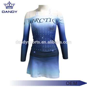 Pielāgota sublimācijas Strapless Cheer Uniform for Youth