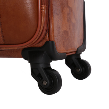 Hot sale travel trolley crocodile pu spinner luggage
