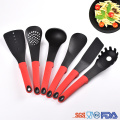 6 Piece durable nylon kitchen cooking utensils set