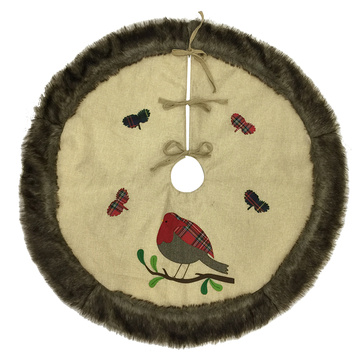 Christmas cuckoo hessian tree skirt