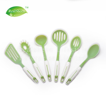 Nylon Inside Transparent Silicone Kitchen Utensils