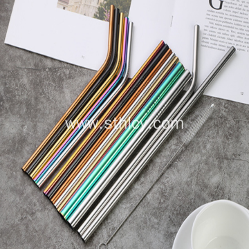 Milk Tea Coffee Metal Straw Set