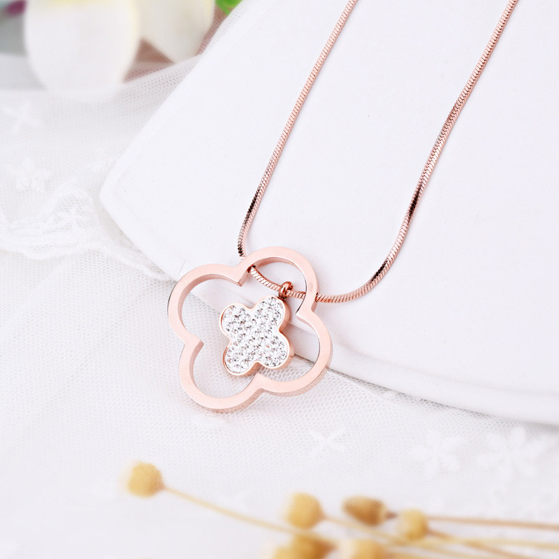 Long Clover Necklace