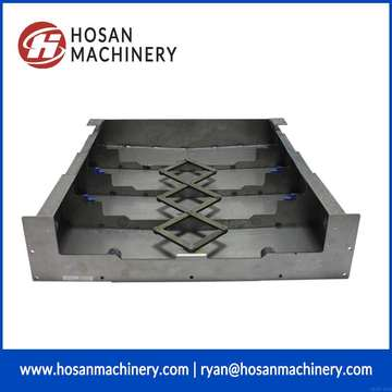 stainless steel telescopic bellow cover for cnc machine