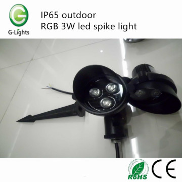 IP65 outdoor RGB 3W led spike light