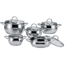 Stainless Steel Hollow Handle Apple Shape Casserole Set