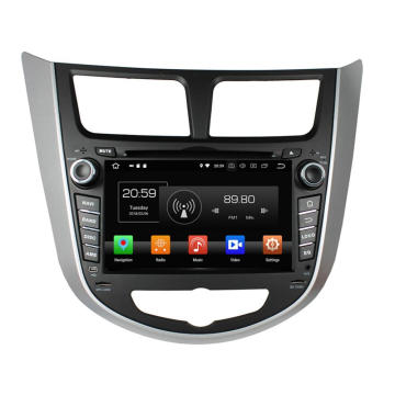 Car multimedia player per Verna Accent Solaris 2011