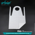 Disposable disposable white custom PE plastic apron