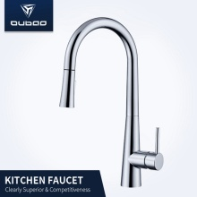 Long Neck High Arc Rotatable Kitchen Sink Faucet
