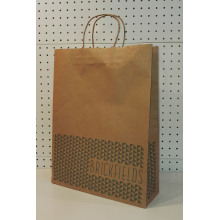 Customized for Brown Paper Bag With Twisted Handle Brown Bag With Handles supply to San Marino Supplier
