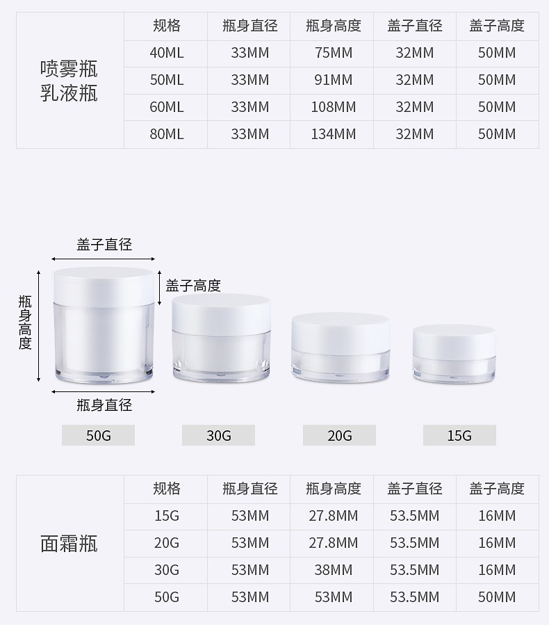 Cosmetic set bottle spray lotion travel divide bottle press type small sample cream bottle (12)