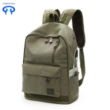 New canvas backpack  with a USB charge