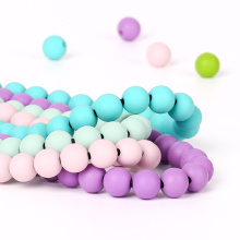 10mm round silicone loose teething beads