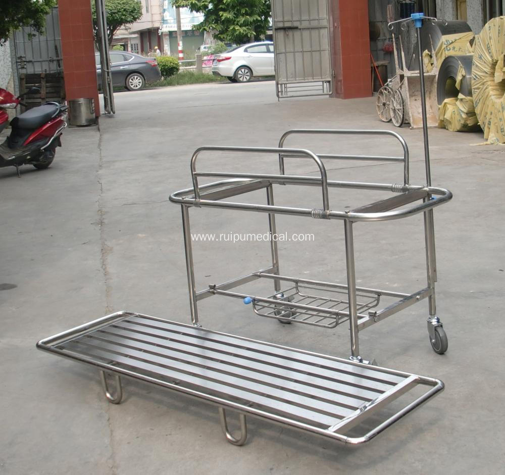 Folding Hospital Aluminum Ambulance Stretcher Trolley