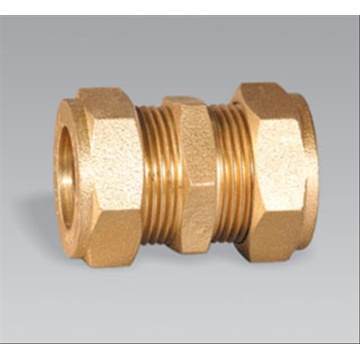 ODM for Brass Compression Nipple Brass pipe fitting brass Compression Coupling supply to United States Factory