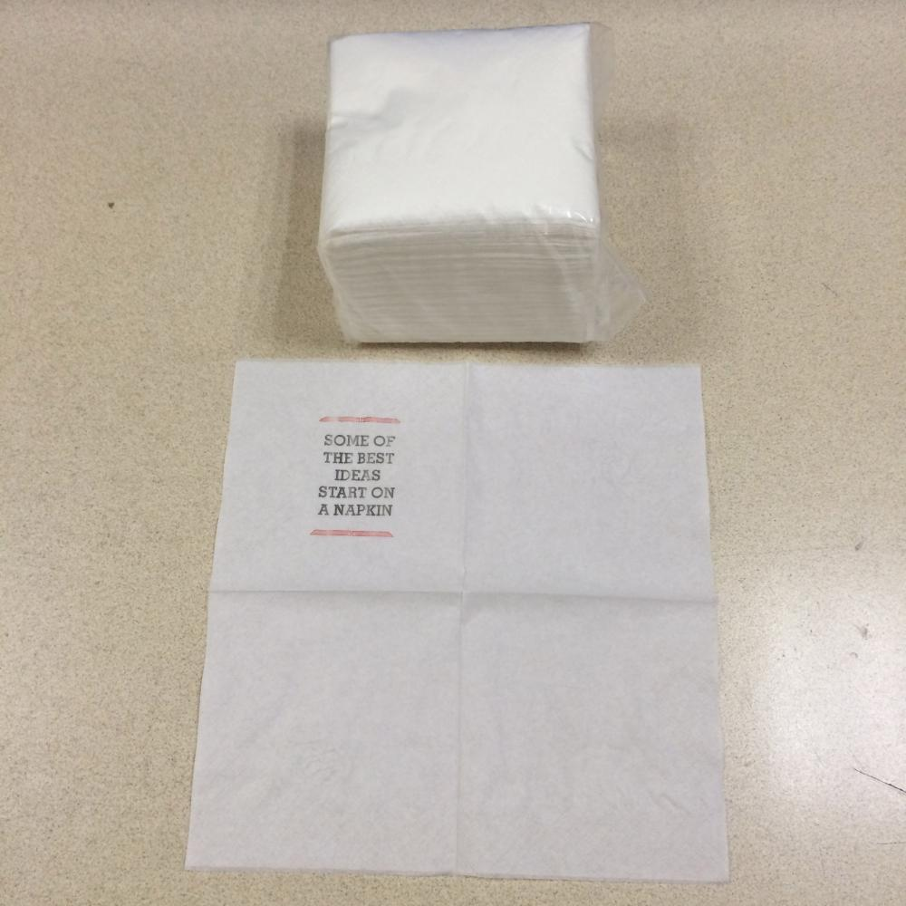 Disposable 15.8''X15.8''(40cmX40cm) 2 Ply napkin tissue