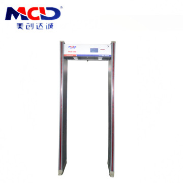 Moden 6.0 inci Skrin paparan LCD LED Light / Sound Walk Through Metal Detector Intensity Arched Sambungkan dengan PC MCD600