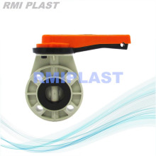 Lever handle Butterfly Valve PP JIS