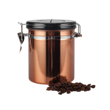 Coffee Storage Jar Stainless Steel Vacuum Seal Container