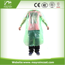 PE rain poncho for promotion