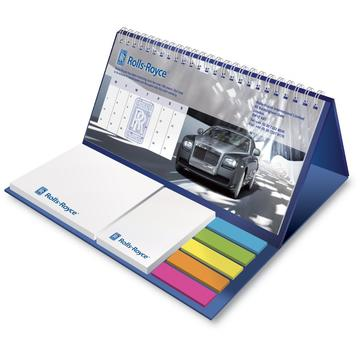 Calendar package sticky note holder