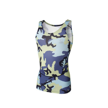 Customized sublimated lycra rash compression tank top men