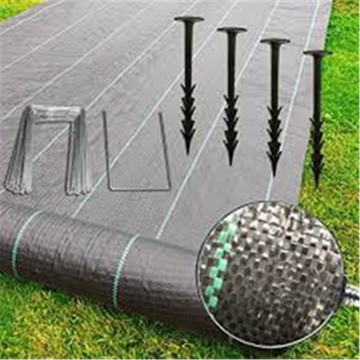 Black color Plastic Material securing Weed Control Fabric