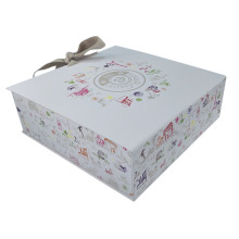 Luxury wedding dress packaging boxes with ribbon