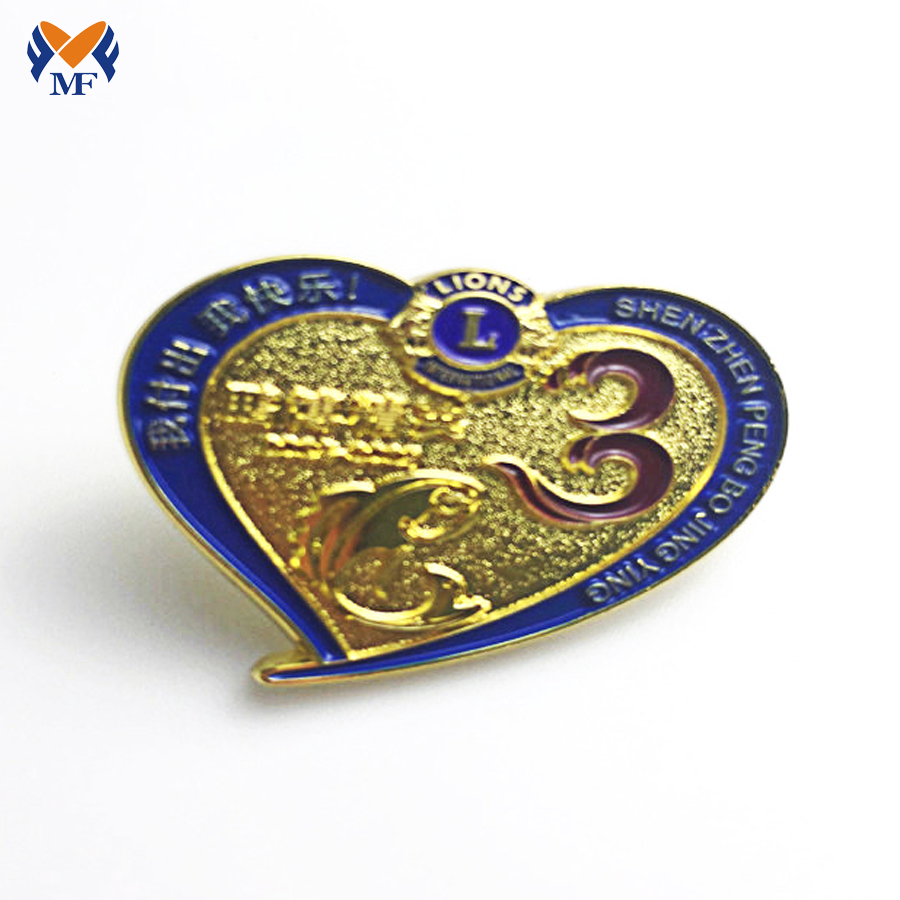 Heart Shape Badge Pin