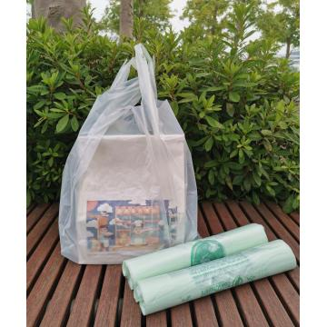 Compostable Biodegradable Plastic T Shirt Bags