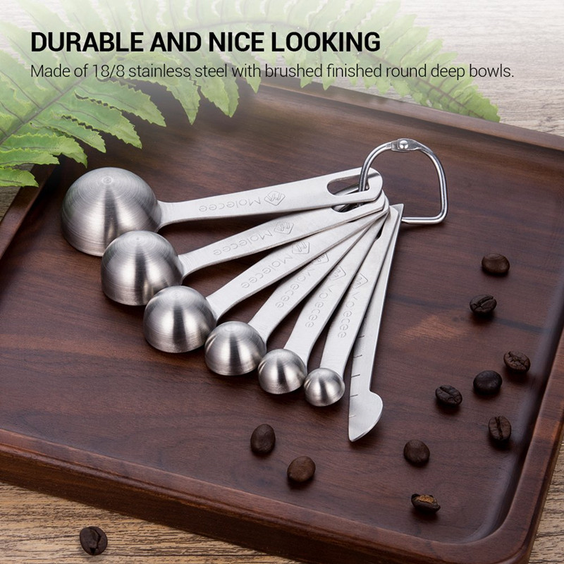 18/0 Stainless Steel Measuring Spoons Set