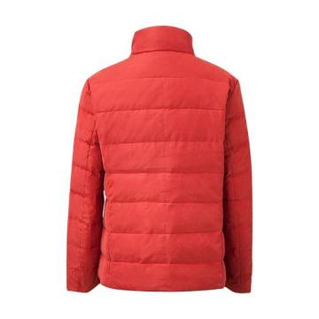 Short Design Warm Pink Suede Puffer Down Jacket