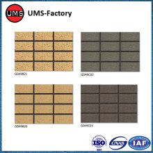Small format exterior wall tile