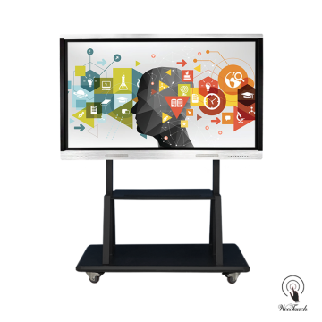 65 Inches 4K Multi-touch Panel with mobile stand