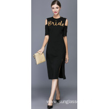 Sexy Woman's Slim Sexy Dress On Shoulder