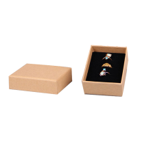 Hot sale good quality for Jewelry box for pendant Brown Paper Custom Pendant Box Packaging export to India Manufacturer