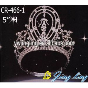 Girl Round Tall Custom Queen Crown Tiara