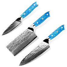 Japanese damascus stainless steel cooking knife