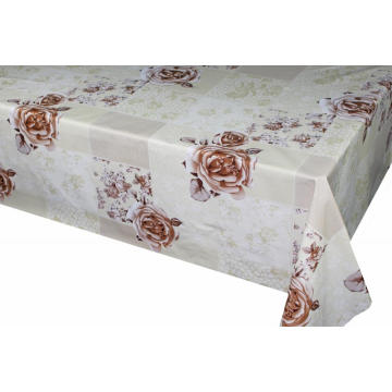 Elegant Tablecloth with Non woven backing Oval 2019