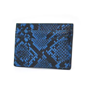 New Fashion Promotional Python Leather Credit Card Holder