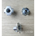 Zinc Plated Furniture 4 Prongs Tee Nuts
