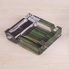 Glass Square Decal Ashtray For Home